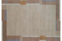 Nepal-Teppich, Ghorka exclusive, 5001, beige, aus Neuseeland-Wolle, 10 mm Florhöhe