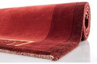 Nepal-Teppich, Ghorka exclusive, kupfer, 318, aus reiner Schurwolle, 10 mm Florhöhe