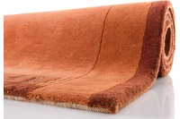 Nepal Teppich, Ghorka exclusive, terra, 318, aus Neuseeland-Wolle, 13 mm Gesamthöhe