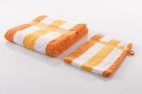 Gözze Frottierserie New York Streifen orange/ weiß/ gelb