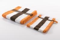 Gözze Frottierserie New York Streifen weiß/ orange/ mocca