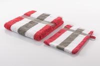 Gözze Frottierserie New York Streifen weiß/ rot/ anthrazit