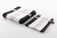 Gözze Frottierserie New York Streifen weiß/ silber/ schwarz