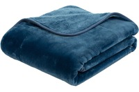Gözze Premium Cashmere-Feeling Decke, blau