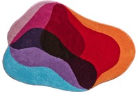GRUND , Badteppich, KARIM RASHID Concept 21 012 rot-bleu