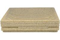 GRUND Seifenablage BRICK, ecru 11,6x11,6x2,6 cm