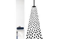 GRUND Duschvorhang Doccia weiß/ schwarz 180x200 cm