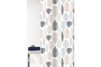 GRUND Duschvorhang Duetto weiß/ braun 180x200 cm