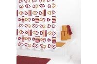 GRUND Duschvorhang SOGNO rot-orange