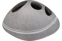 GRUND Zahnputzbecher STONE, grau 14x9x8 cm