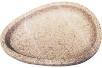 GRUND Seifenablage STONE, sand 12,7x9,9x4 cm