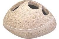 GRUND Zahnputzbecher STONE, sand 14x9x8 cm