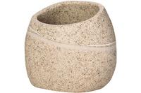 GRUND Zahnputzbecher STONE, sand 9x7,5x8 cm