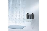 GRUND Duschvorhang TURNO silber transparent