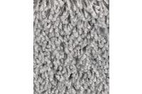 Hometrend CARLITA/ GREASE Teppichboden, Shaggy Hochflor Silber