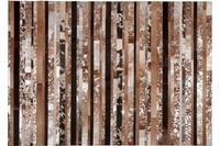 Kelii Leder-Teppich Luna Trend Stripe-16 natural/ braun