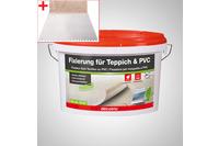 ilima Verlegeset für Teppichboden und Vinylboden - Dispersionskleber 3kg Fixierung + Zahnspachtel