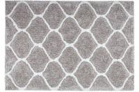 Kayoom Teppich Hungary - Eger Silber /  Weiß 80 x 150 cm