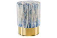 Kayoom Hocker Gipsy 125 Blau /  Gold