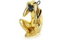Kayoom Skulptur Sitting Monkey 210 Gold /  Schwarz