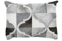 Kayoom Lederkissen Lavish Pillow 310 Grau