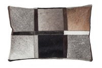 Kayoom Lederkissen Lavish Pillow 410 Grau
