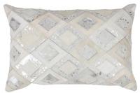 Kayoom Lederkissen Spark Pillow 110 Grau /  Silber