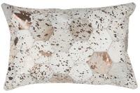 Kayoom Lederkissen Spark Pillow 210 Elfenbein /  Chrom