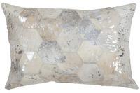 Kayoom Lederkissen Spark Pillow 210 Grau /  Silber