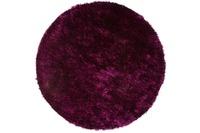 Kayoom Hochflor-Teppich Diamond 700 Violett /  Schwarz Ø 160cm RUND