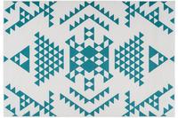 Kayoom Teppich Esperanto 625 Weiß /  Türkis
