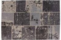 Kayoom Patchwork-Teppich Matrix 210 Schwarz /  Grau 240cm x 300cm