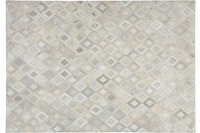 Kayoom Leder-Teppich Spark 110 Grau /  Silber