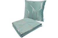 Kenda Sand Dekokissen & Decke Prisma 125 2er-Set Mint /  Gold