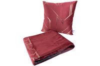 Kenda Sand Dekokissen & Decke Prisma 125 2er-Set Rot /  Gold