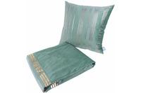 Kenda Sand Dekokissen & Decke Prisma 525 2er-Set Mint /  Gold