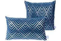 Kenda Sand Dekokissen Prisma 225 2er-Set Blau /  Silber