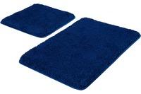 Kleine Wolke Badteppich Relax, Atlantikblau Set 2-teilig, Jubiläums-Angebot 2-teilig (50 x 50 cm und 55 x 85 cm)
