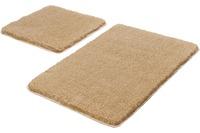 Kleine Wolke Badteppich Relax, 2-teiliges Jubiläums-Angebots-Set, Champagner Set 2-teilig (50 cm x 50 cm und 55 cm x 85 cm)