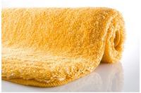 Kleine Wolke Badteppich Relax Goldgelb rutschhemmender Rücken Öko-Tex zertifiziert
