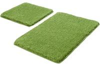 Kleine Wolke Badteppich Relax, Kiwigrün Set 2-teilig, Jubiläums-Angebot 2-teilig (50 x 50 cm und 55 x 85 cm)