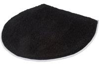 Kleine Wolke Deckelbezug Soft, Schwarz 47 cm x 50 cm