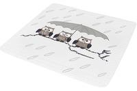 Kleine Wolke Duscheinlage Eule, Taupe 55x 55 cm