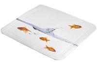Kleine Wolke Duscheinlage Goldfisch, Multicolor 55 x 55 cm