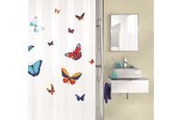 Kleine Wolke Duschvorhang Farfalla, Multicolor 180x200 cm (Breite x Höhe)