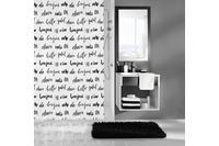 Kleine Wolke Duschvorhang Hello, Schwarz Weiss 180x200 cm