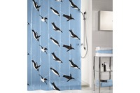 Kleine Wolke Duschvorhang Penguin Blau 180 x 200 cm (Breite x Höhe)