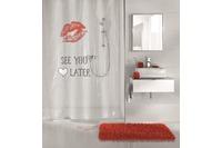 Kleine Wolke Duschvorhang See You, Rot 180x200 cm (Breite x Höhe)