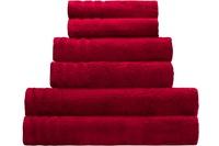 Kleine Wolke Handtuch/Duschtuch Royal, Rot