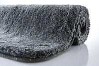 Kleine Wolke Badteppich, Relax, Anthrazit, rutschhemmender Rücken, Öko-Tex zertifiziert